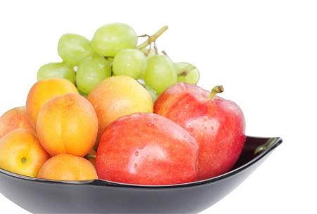 Sluit uitzicht van vers fruit op geringe diepte van de focus Stockfoto