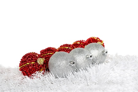 Red and silver christmas balls Stock Photo - 15265911