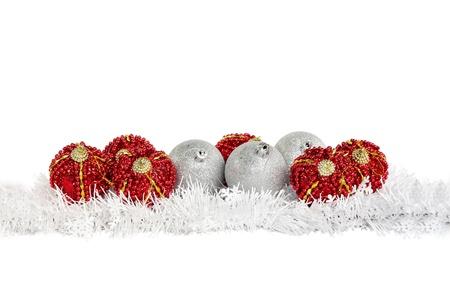 christmas greetings: Beautiful christmas balls Stock Photo