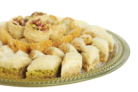 shallow dof: Baklava at shallow DOF, focus on middle sweets Stock Photo