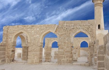11th century: Beautiful archways of Al Khamis mosque, Bahrain Stock Photo