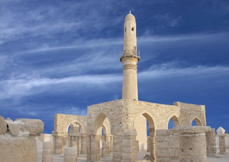 Restored Al Khamis Mosque, Bahrain Stock Photo