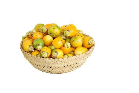 betelnut: A basket full of ripe areca nut