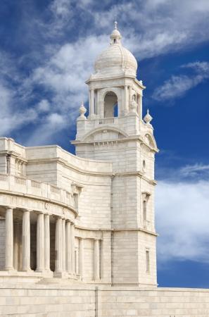constrution: Beautiful minaret of Victoria Memorial hall looking towards South