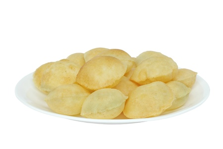 Closeview of puri of panipuri