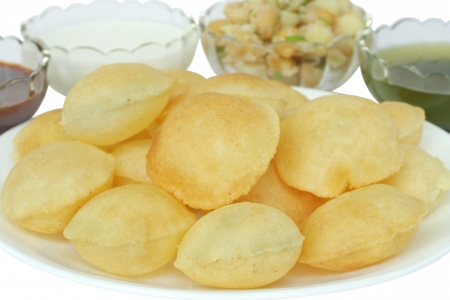 pani: Closeview of panipuri