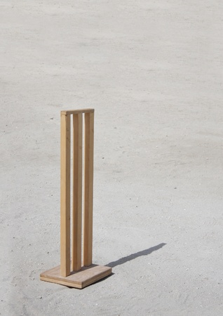 Customized cricket wickets specially for sandy ground photo