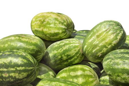 scrambler: Stacked watermelon isolated on white