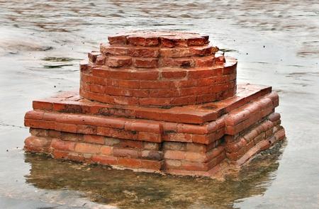 monastic site: A votive miniature stupa ruins