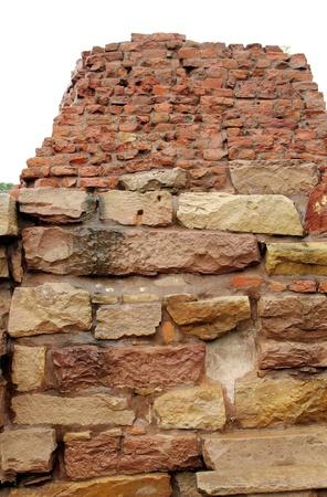 sandstone and burnt mud bricks ruins of ancient Mulgandhakuti Stock Photo - 17429813