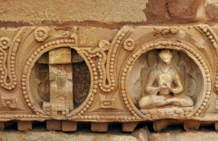 vihar: Beautiful sculpture carvings on sandstone Stock Photo