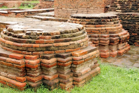 Close view of Votive Stupas ruins at Sarnath, India Stock Photo - 17429847