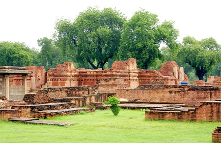 vihar: The main shrine, Mulgandhakuti ruins at Sarnath, India