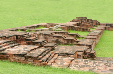vihar: Imprints of ancient rooms in the monastery ruins at Sarnath