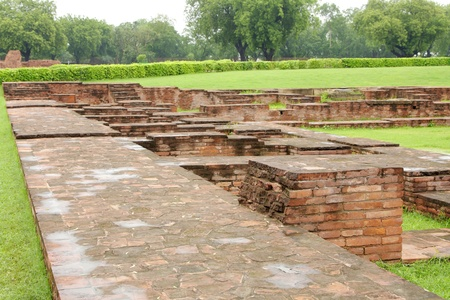 vihar: View from the wall of monastery ruins at Sarnath  Stock Photo
