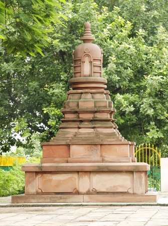 buddhist structures: A miniature stupa, Sarnath