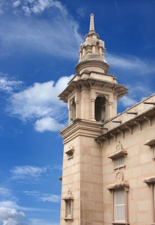 sarnath: A beautiful tower of Mulagandhakuti Vihara temple, sarnath Stock Photo