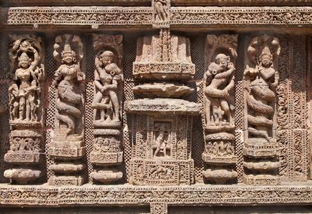 Fine carving of sculptures, Sun Temple, Konarak Stock Photo - 18346952