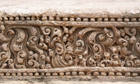 Exquisitely fine carvings at Sun temple Konark