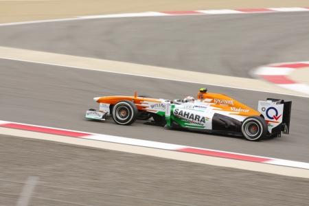 SHAKIR, BAHRAIN - APRIL 20: Adrian Sutil of Force India-Mercedes racing on Saturday Qualifying session,  April 20, 2013, Formula 1 Gulf Air Bahrain Grand Prix 2013