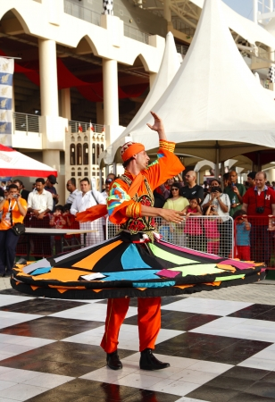 mesmerising: SHAKIR, BAHRAIN - APRIL 19: Egypt Menoufia of Folk Art troupe performs at Formula 1 village, vending area & entertainment in 2013 Formula 1 Gulf Air Bahrain Grand Prix on April 19, 2013 in Shakir, Bahrain