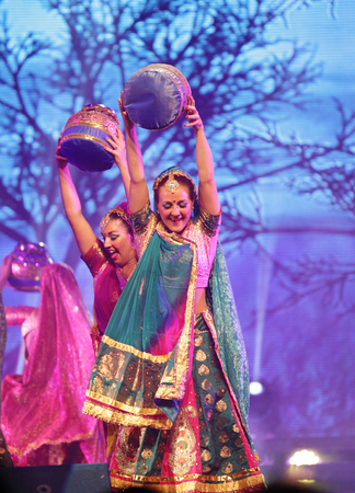 MANAMA, BAHRAIN - SEPTEMBER 9   Mystic India-The World Tour group performs on September 9, 2013 in Bahrain on the occasion of the Bahrain Summer Festival 2013