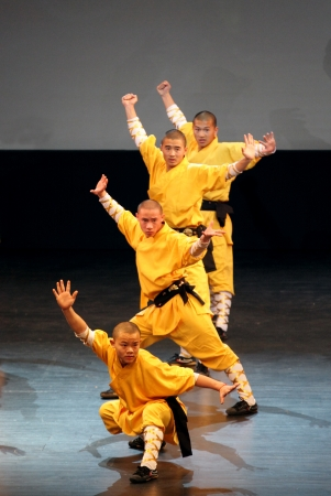MANAMA, BAHRAIN - MARCH 28  Shaolin Temple group of China performs on March 28, 2012 in Bahrain on the occasion of Seventh Spring of Culture festival