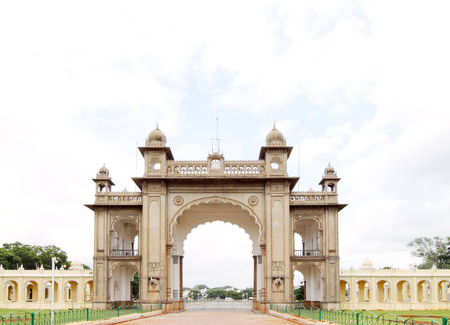rajput: The main gate in the eastern side of the Mysore palace Editorial