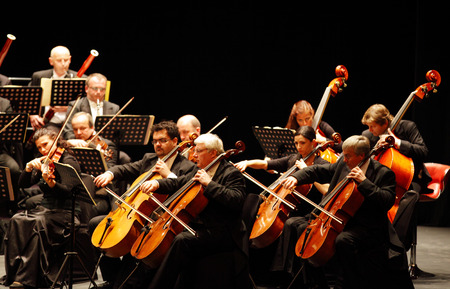mesmerising: MANAMA, BAHRAIN - OCTOBER 24   Prague Chamber Orchestra, the only Orchestra to play without a conductor   performs on October 24, 2013 in Bahrain on the occasion of the 22nd Bahrain International music festival Editorial