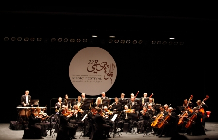 MANAMA, BAHRAIN - OCTOBER 24 Prague Chamber Orchestra, the only Orchestra to play without a conductor performs on October 24, 2013 in Bahrain on the occasion of the 22nd Bahrain International music festival