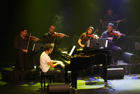MANAMA, BAHRAIN - OCTOBER 02  Piano Pop Zade Dirani with his orchestra performs on October 02, 2012 in Bahrain on the occasion of the 21st Bahrain International music festival
