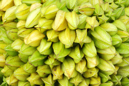 Stacked fresh Star Fruit photo