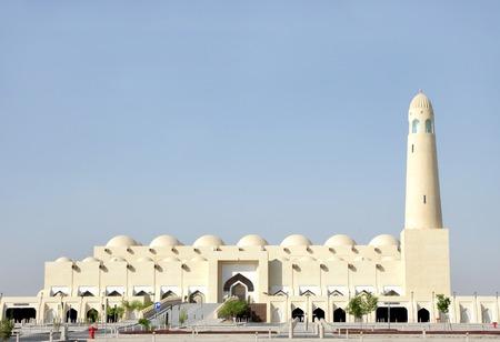 Beautiful grand mosque of Doha, Qatar Stock Photo