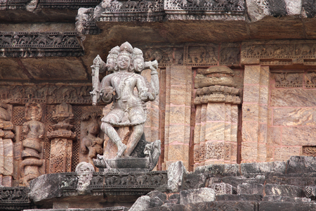 Beautiful sculpture lord Shiva in Bhairava form, Sun Temple Konarak