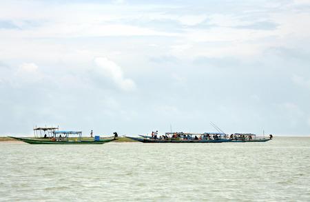 chilika: Tourist visiting crab island in chilika lake, Orissa Editorial