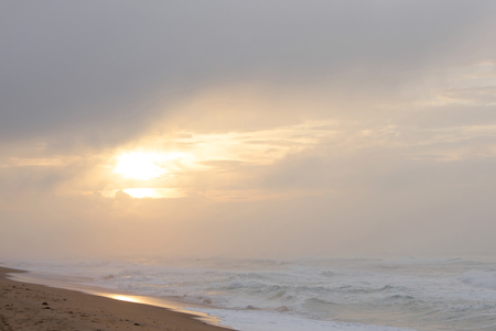 puri: Beautiful view of sunrise at Puri beach, Orissa, india