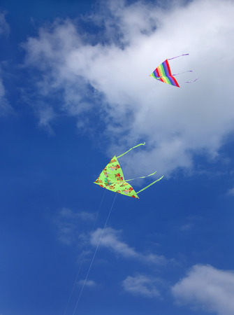 colourful Kites in clear sky