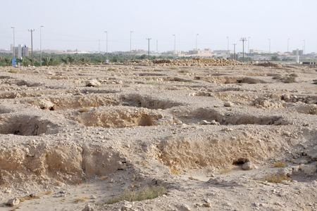saar: Partially dug burial chambers near Saar village