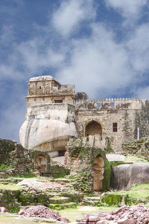 11th century: Madan Mahal Fort a construction on rock boulder, Jabalpur, India