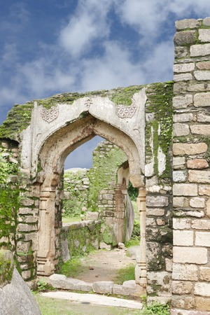 11th century: Remains of archway in Madan Mahal fort, Jabalpur, India Stock Photo