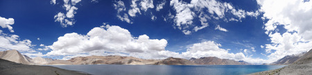 Beautiful panoramic view of Pangong Lake, HDR