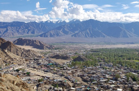 tethys: Leh city and beautiful landscape,HDR Stock Photo