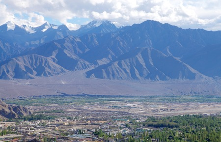 tethys: Green valley and beautiful mountain at Leh, HDR