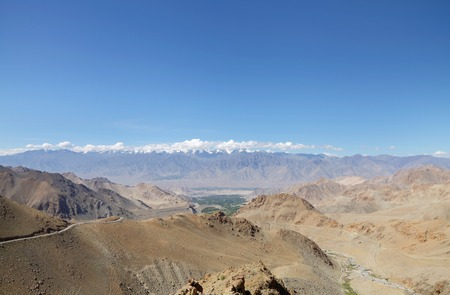 tethys: Beautiful Zansker range visible from Ladakh range near Leh, HDR