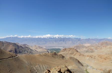 tethys: Beautiful Zansker range visible from Ladakh range near Leh, HDR