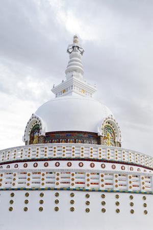 shanti: Close view of Shanti Stupa