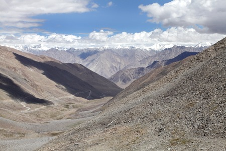 tethys: Landscape from Khardung La (pass) with granite rock exposures