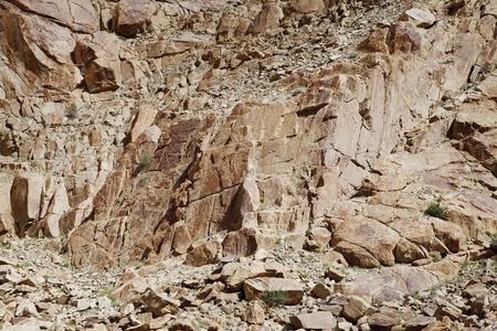 brittle: Brittle and fractured Granite rocks in ladakh