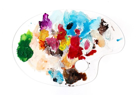 Mixing of acrylic paints on Clear Palette