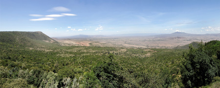 The great rift valley of Kenya with Volcano Mt Longonot & Mt Suswa